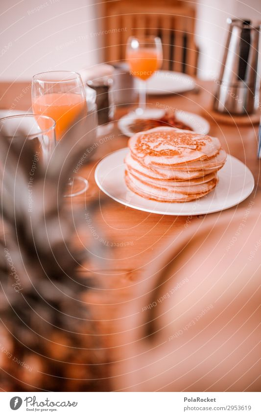 #A# Good morning! Pancake breakfast :) Art Esthetic pancake Breakfast Breakfast table Morning break Set meal Eating Essen Healthy Eating Nutrition Delicious