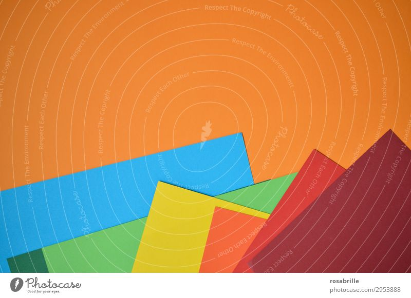 Colour cardboard in rainbow colours | colour combination Paper Cardboard ink carton variegated Prismatic colors Rainbow background surface Abstract Neutral