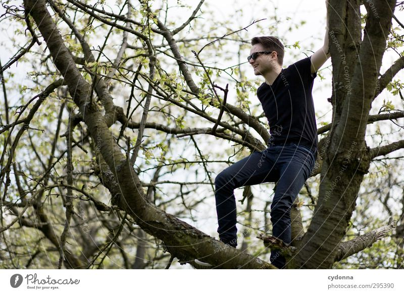 Human being Nature Youth (Young adults) Tree Joy Landscape Adults Environment Young man Life Emotions Spring Movement Freedom 18 - 30 years Style