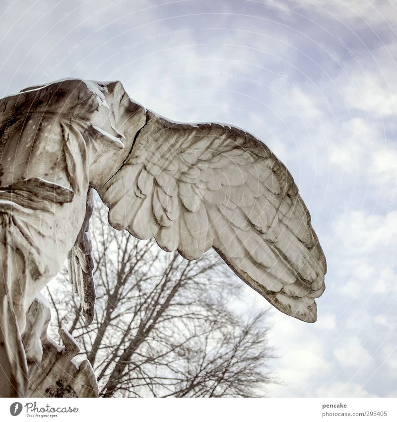 old gravestones falling angel Art Sculpture Monument Sign Moody Passion Secrecy Dedication Angel Wing Statue To fall Tumble down Headless Tombstone