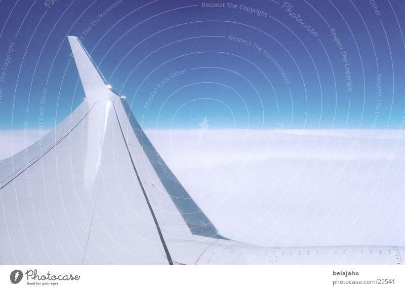 Sky White Blue Vacation & Travel Clouds Airplane Aviation Level Wing