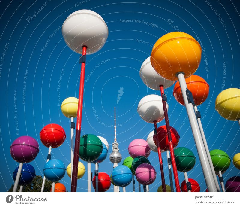 Colour Summer Warmth Together Design Fresh Happiness Beautiful weather Uniqueness Round Many Plastic Cloudless sky Sphere Capital city Landmark