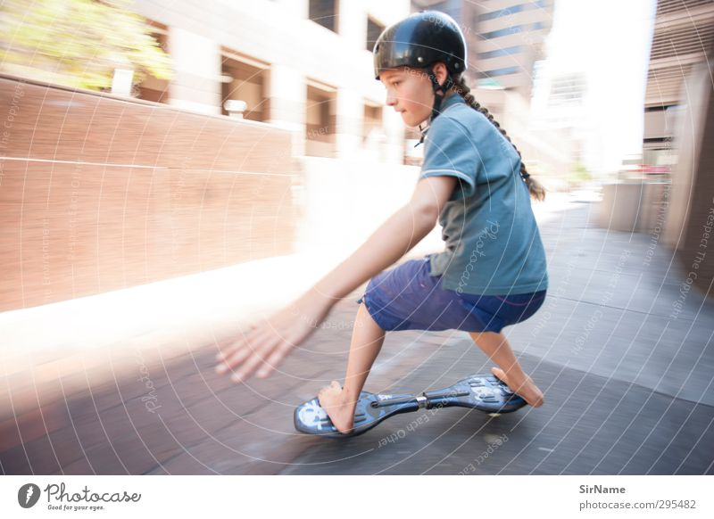 219 [high-speed inner city] Children's game Sports Skateboard Skateboarding jayboard Office building Youth (Young adults) Human being 8 - 13 years Infancy