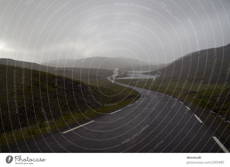 northward Landscape Weather Bad weather Wind Fog Rain Hill Road traffic Motoring Cycling Street Driving Vacation & Travel Far-off places Infinity Loneliness