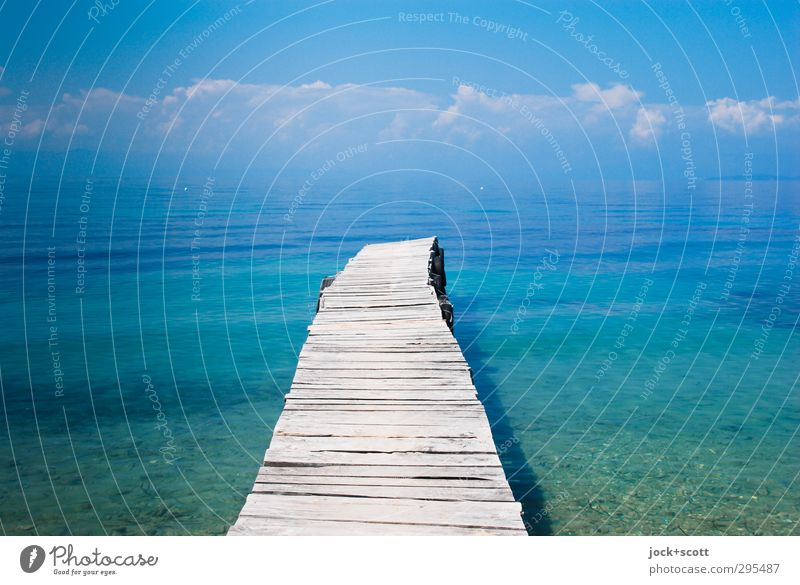 insight & vision Sky Water Summer Ocean Calm Clouds Far-off places Warmth Coast Lanes & trails Wood Freedom Horizon Dream Illuminate