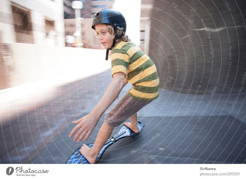 220 [high-speed inner city] Leisure and hobbies Playing Children's game Sports Skateboard Skateboarding Trick jump jayboard Office building Boy (child) Infancy