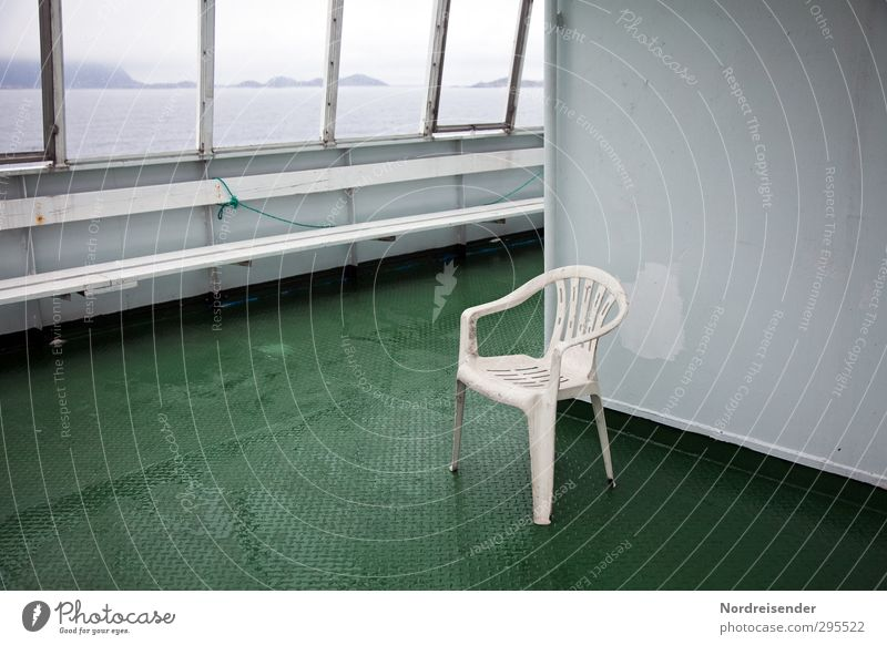 solitary crossing Vacation & Travel Tourism Far-off places Sightseeing Ocean Logistics Bad weather Rain Navigation Ferry Steel Plastic Driving Dirty Dark Wet