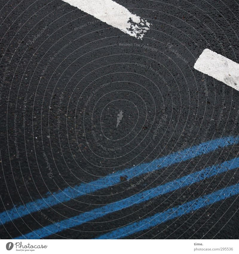Blue City White Black Dark Street Stone Line Exceptional Elegant Transport Signs and labeling Crazy Concrete Curiosity
