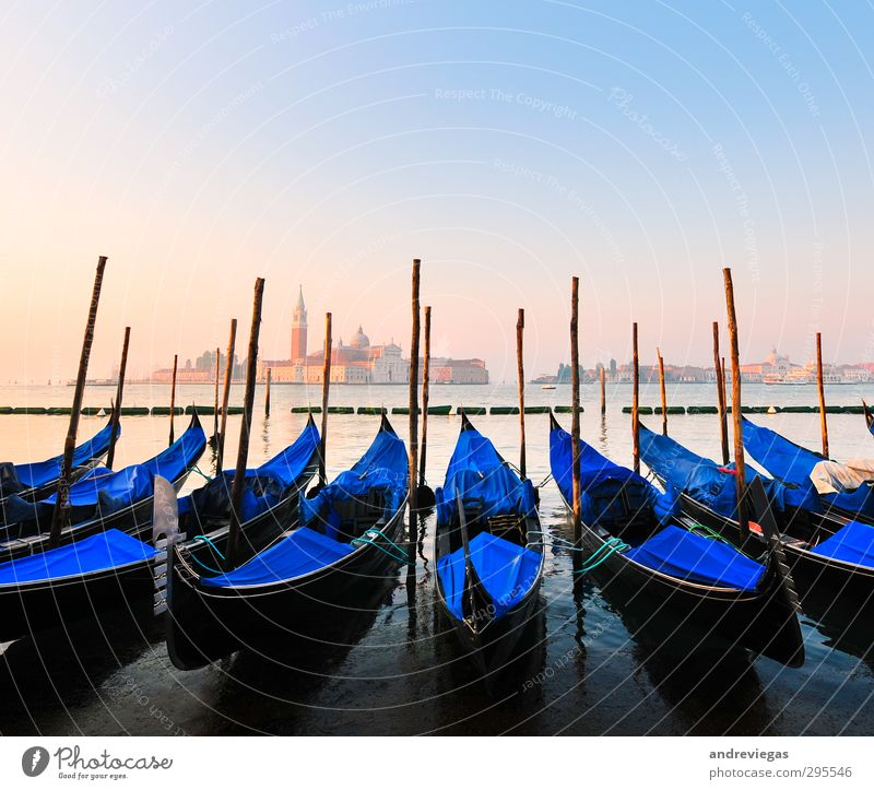 Venice, Italy Town Old town Church Architecture Landmark Monument Navigation Harbour Vacation & Travel Gondola (Boat) Europe Travel photography Colour photo