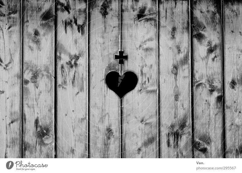 Wall (building) Wood Gray Line Heart Crucifix Wooden board Vertical Direct Wood grain