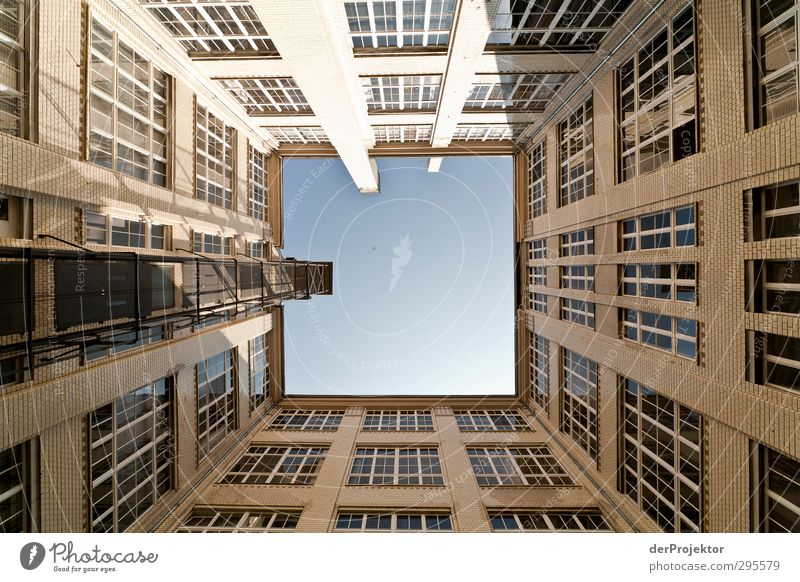 The window to the courtyard 13 Town Capital city Downtown Deserted House (Residential Structure) Manmade structures Building Architecture Self-confident