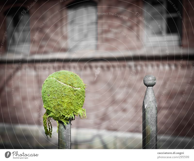 Green Sadness Funny Gray Art Exceptional Metal Point Simple Broken Round Break Fence Ball Pain Sphere