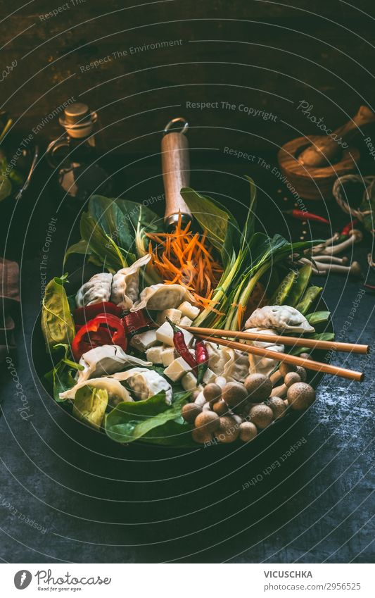 Tasty Asian stew Food Vegetable Soup Stew Nutrition Lunch Dinner Organic produce Vegetarian diet Diet Slow food Asian Food Crockery Pot Pan Design