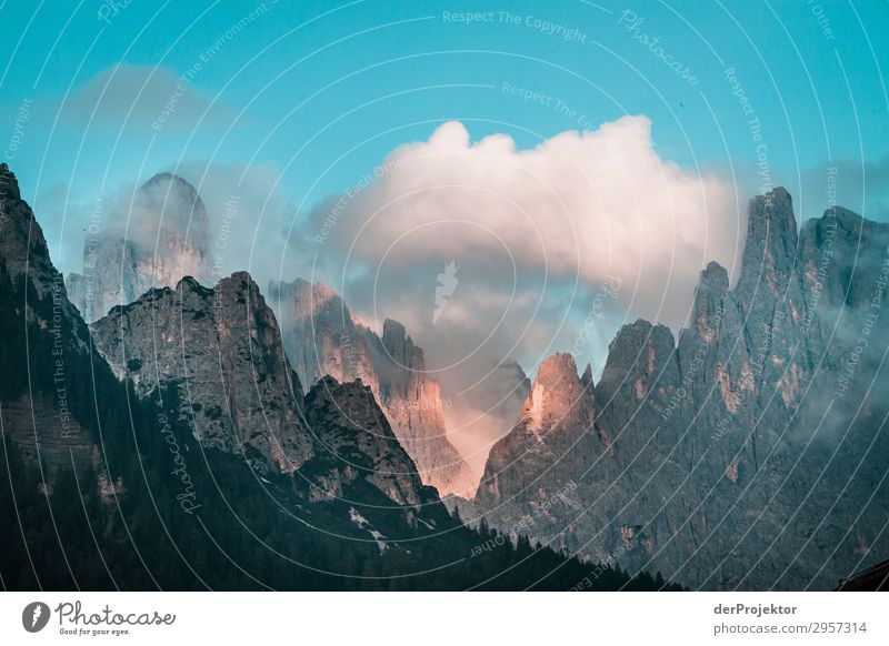 Sunset in the Dolomites Vacation & Travel Tourism Adventure Far-off places Freedom Summer vacation Mountain Hiking Environment Nature Landscape Plant Animal
