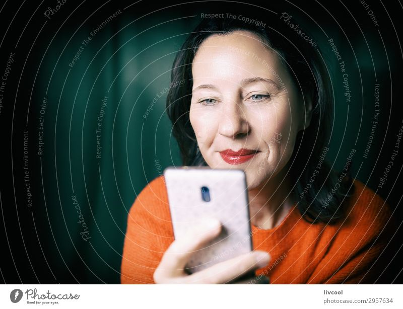 happy to be connected II Lifestyle Happy Face Relaxation To talk Telephone Cellphone Technology Entertainment electronics Feminine Woman Adults Female senior 1