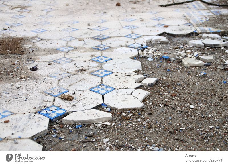 Rejected Profession Craftsperson tile layers paver House (Residential Structure) Ruin Floor covering Tile Stone Sand Old Dirty Disgust Historic Broken Retro