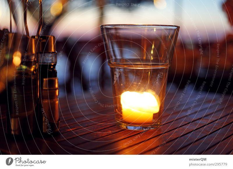 Relaxation Style Elegant Glass Contentment Design Lifestyle Idyll Esthetic Table Candle Romance Restaurant Luxury Dusk Dinner