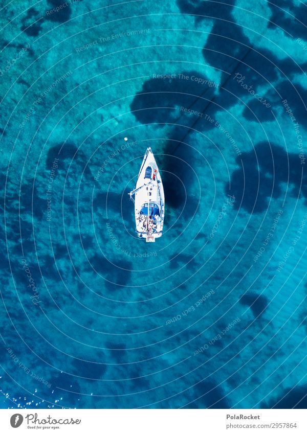 #S# The Boot Lifestyle Leisure and hobbies Tall Watercraft Sail Sailboat Sailing ship Above Aerial photograph Bay Bottom of the sea Drop anchor Anchoring ground