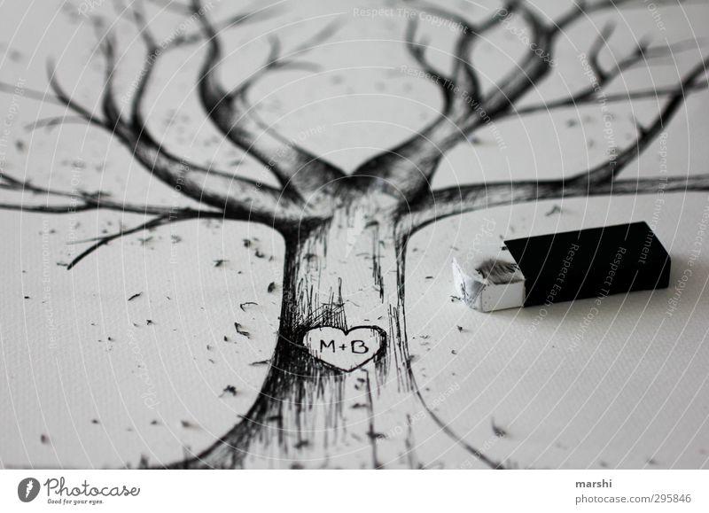 the tree of love Leisure and hobbies Nature Tree Emotions Tree trunk Treetop tree drawing Drawing Eraser Love weddingtree Wedding hatching Art
