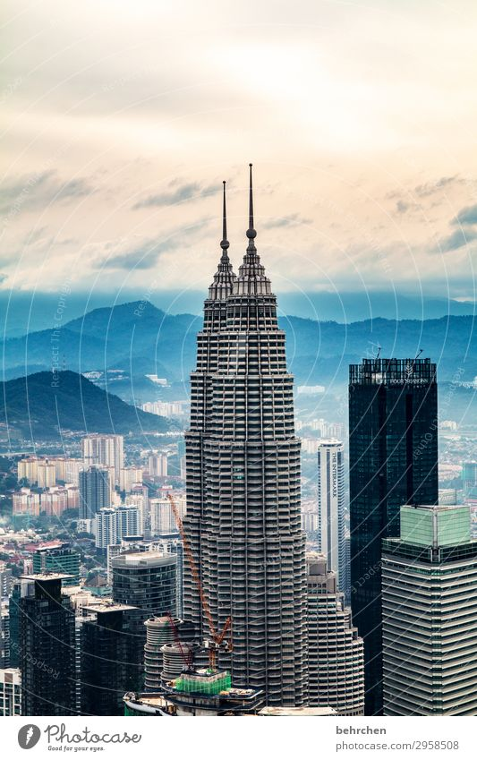 Nebulous big-city air. Vacation & Travel Tourism Trip Adventure Far-off places Freedom Sightseeing Sky Clouds Fog Kuala Lumpur Malaya Asia Town Capital city