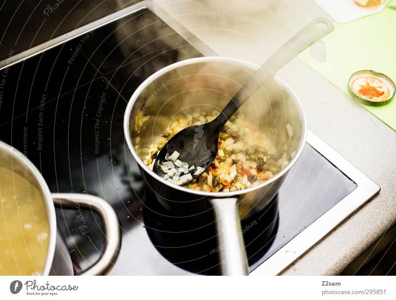 lunches Food Vegetable Soup Stew Nutrition Italian Food Pot Stove & Oven Wooden spoon Work and employment Fragrance Fresh Healthy Good Delicious Cooking Onion
