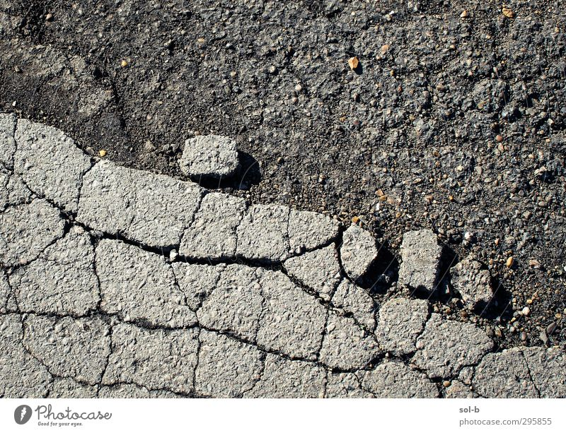Rolling Stone Concrete Build Sharp-edged Historic Broken Near Gray Friendship Dangerous Rock To break (something) Crack & Rip & Tear Pavement Gravel To fall