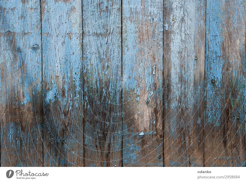 wooden background with blue cracked paint Design Decoration Table Nature Wood Old Natural Retro Blue Colour Creativity Timber hardwood backdrop board