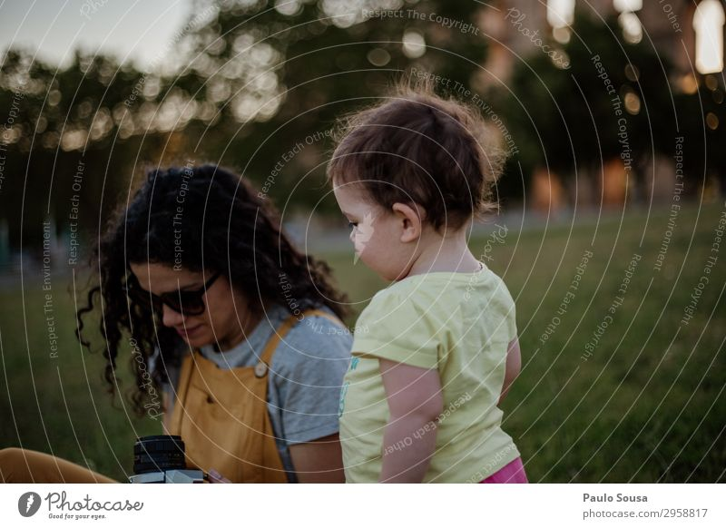 Mother and Daughter at park Lifestyle Leisure and hobbies Vacation & Travel Tourism Camera Human being Child Baby Toddler Girl Adults 2 1 - 3 years