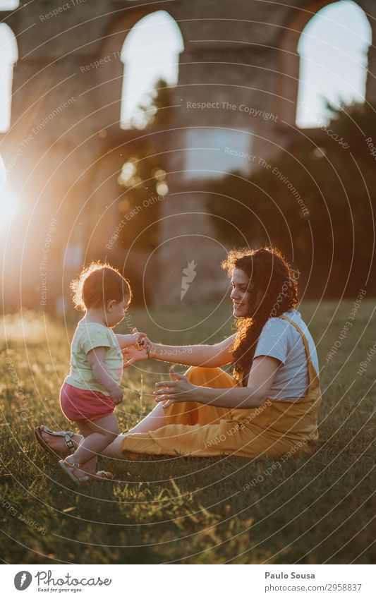 Mother and Daughter having fun at sunset Human being Nature Youth (Young adults) Summer Joy Girl 18 - 30 years Lifestyle Adults Love Natural Feminine Happy