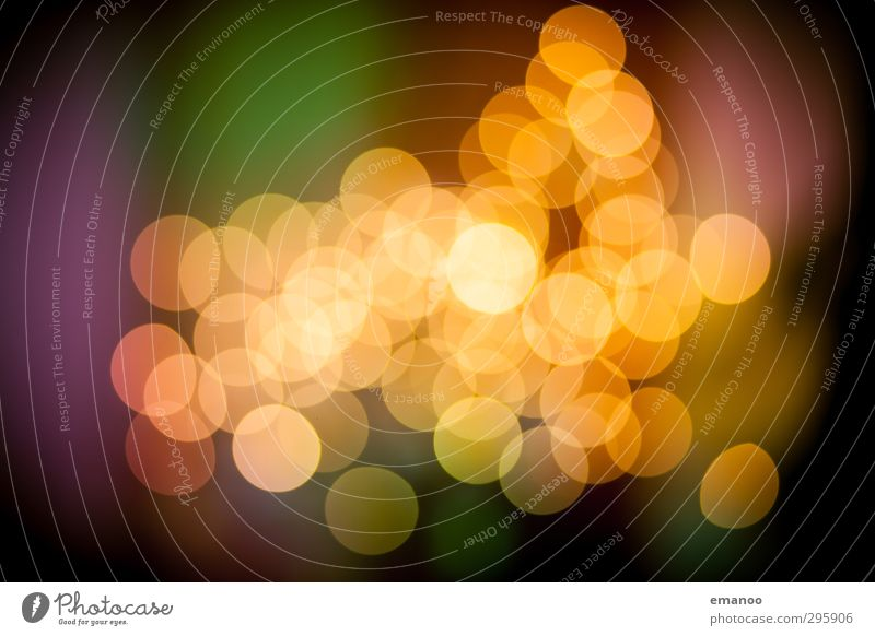 bokeh Art Event Shows Sign Sphere Bright Warmth Yellow Design Blur Light Light (Natural Phenomenon) Christmas & Advent Christmas fairy lights Round Circle Soft
