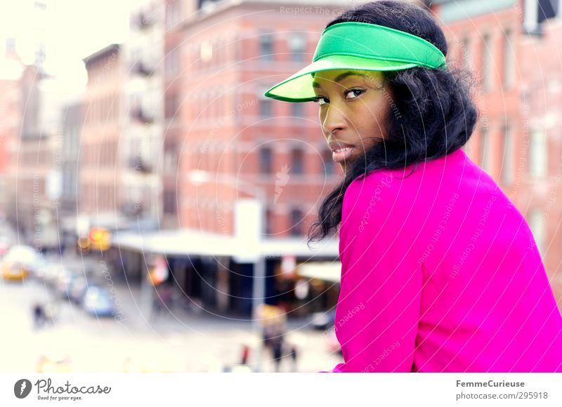 NYC Girl V Lifestyle Elegant Style Beautiful Feminine Young woman Youth (Young adults) Woman Adults 1 Human being 18 - 30 years 30 - 45 years Town