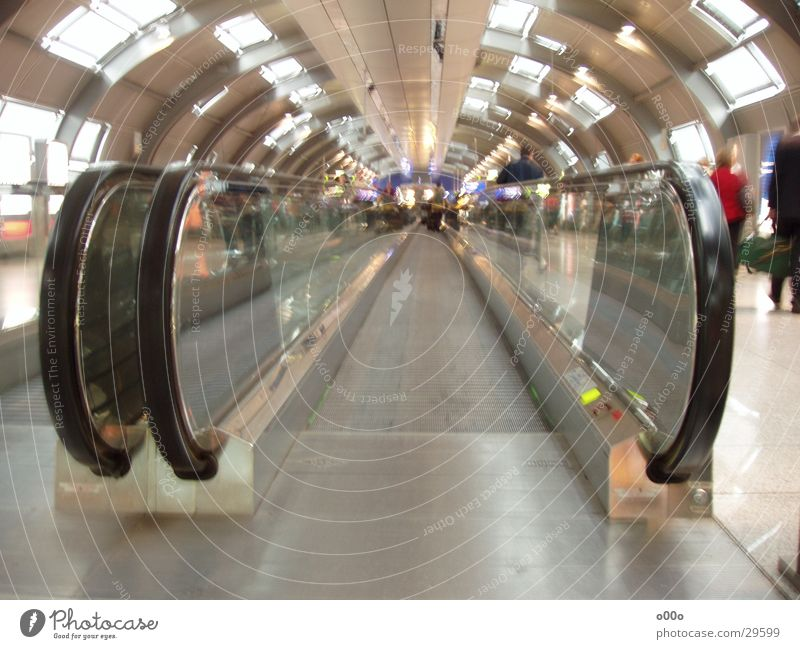 Round Airport Deep Distorted Escalator Moving pavement Conveyor belt