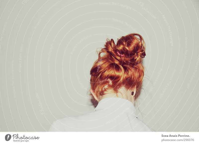 white.(7) Young woman Youth (Young adults) Hair and hairstyles 1 Human being 18 - 30 years Adults Wall (barrier) Wall (building) Blouse Red-haired Braids Cold