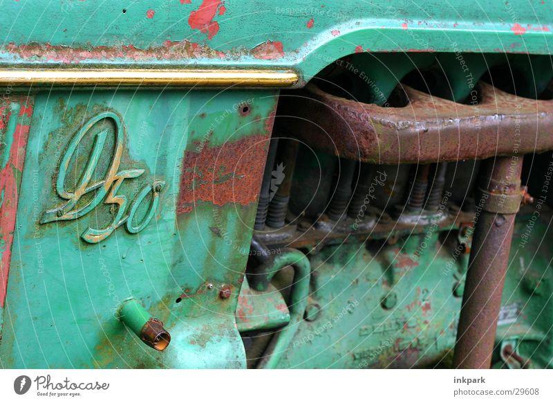 D50 Green Broken Craft (trade) Old. tractor Träker Rust