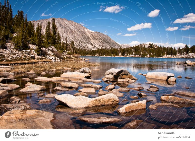 Mammoth Lakes Nature Vacation & Travel Blue Beautiful Green Tree Landscape Clouds Mountain Bright Rock Horizon Park Beauty Photography USA