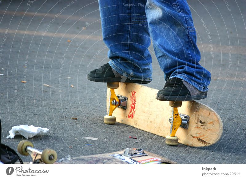 Street Sports Jeans Skateboarding Wooden board Hip & trendy Coil