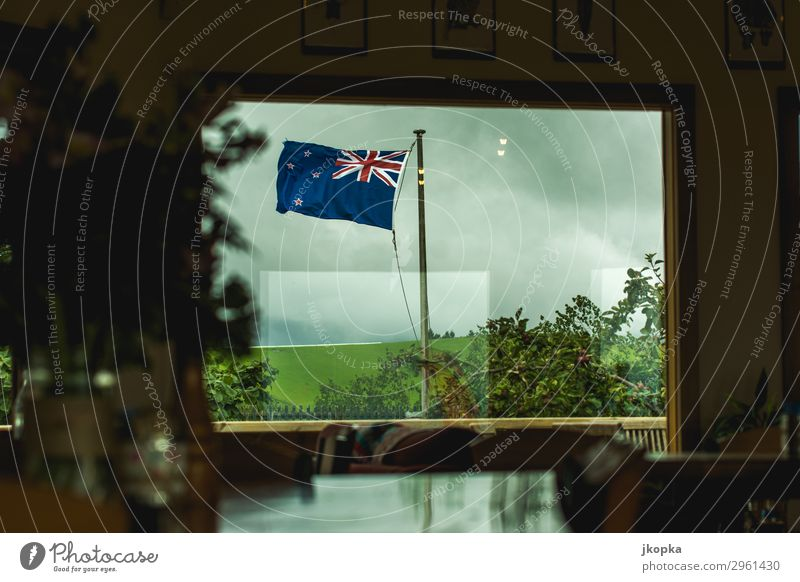 Flag of New Zealand Society Identity Politics and state Vacation & Travel Safety Moody Tourism Tradition Trust Colour photo Exterior shot Interior shot Deserted