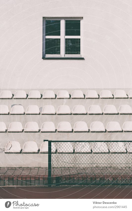 A number of seats at the school stadium Design Playing Summer Sun Chair Sports Audience Soccer Stadium School Group Theatre Concert Book Plastic Line Stand Free