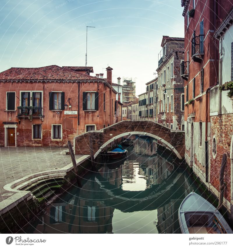 one of many Venice Port City Old town Deserted House (Residential Structure) Places Bridge Wall (barrier) Wall (building) Facade Window Roof Channel