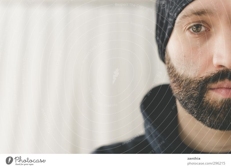 beard Human being Masculine Man Adults 1 30 - 45 years Looking Authentic Sharp-edged Town Secrecy Sadness Concern Grief Fatigue Longing Loneliness Exhaustion