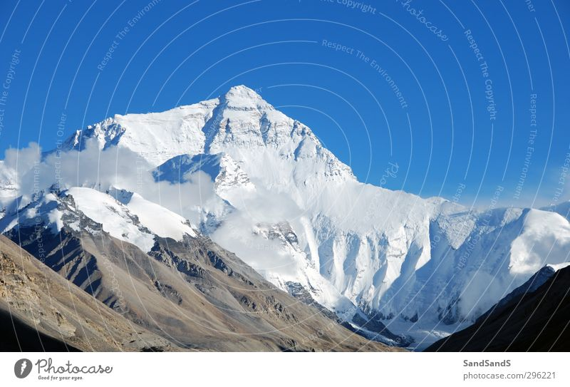 North Face Sky Nature Vacation & Travel Blue White Landscape Mountain Snow Tourism Vantage point Uniqueness Peak China Remote Height