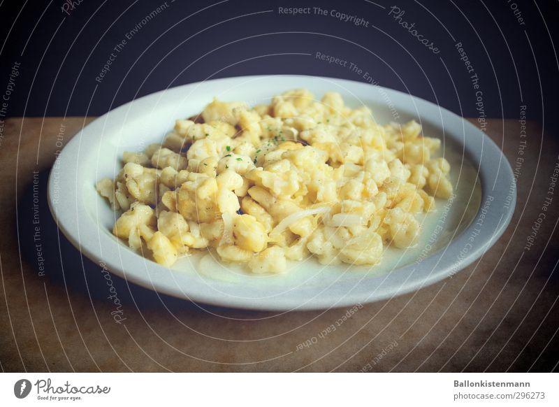 White Yellow Brown Authentic Retro Plate Dinner Lunch Vegetarian diet Original Modest Refrain