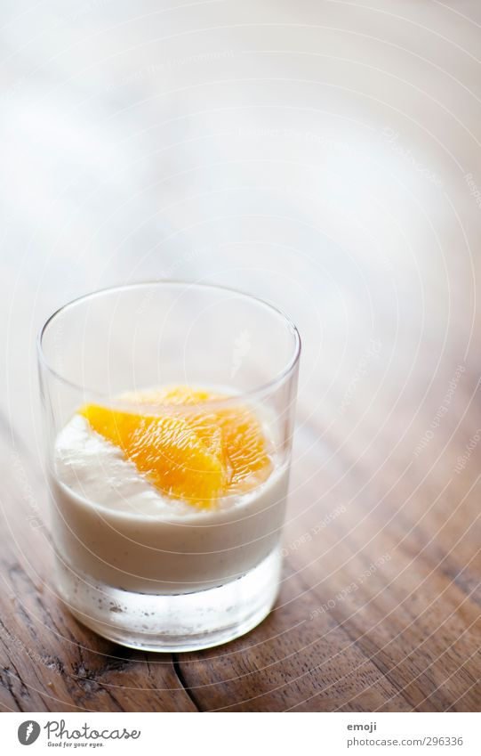 dessert Dessert Candy Cream Mousse Nutrition Glass Delicious Sweet Orange Colour photo Interior shot Deserted Copy Space top Neutral Background Day