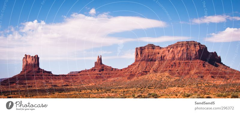 Monument Valley Sky Nature Vacation & Travel Blue Beautiful Red Landscape Clouds Mountain Stone Sand Rock Horizon Park Wild Tourism