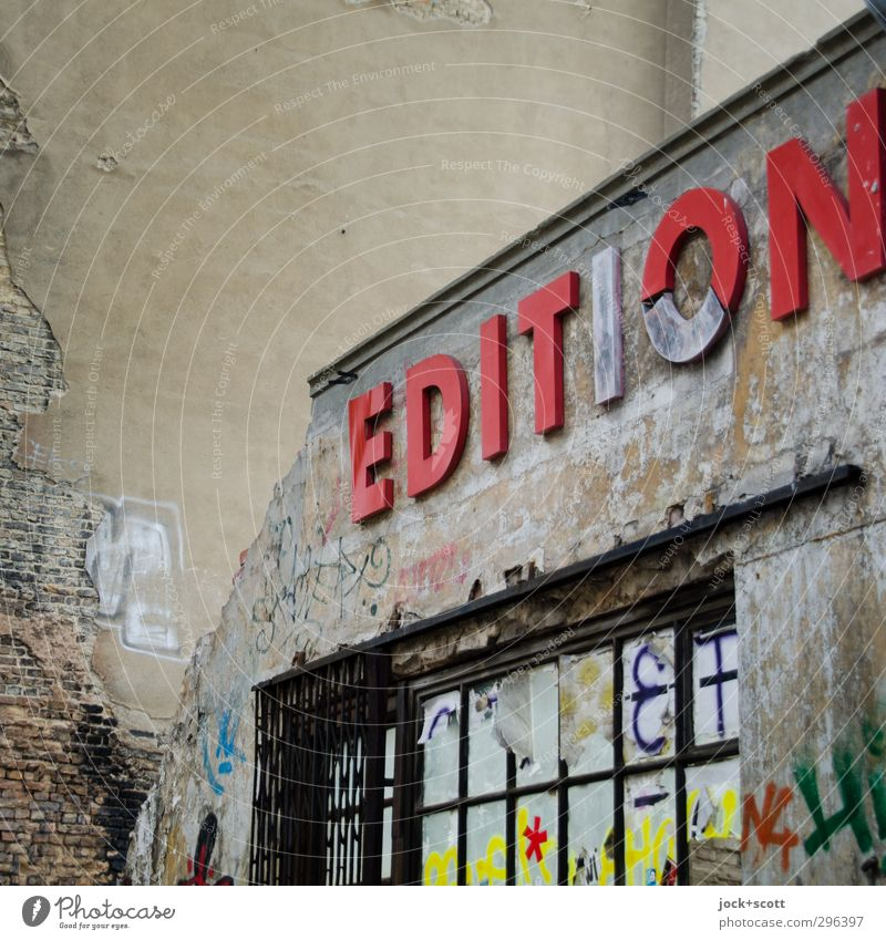 Old Window Architecture Graffiti Facade Dirty Design Perspective Creativity Transience Broken Education Decline Passion Store premises Word