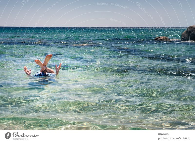 All fours stretch from themselves Lifestyle Joy Vacation & Travel Summer Summer vacation Sun Beach Ocean Human being Arm Hand Legs Feet 1 Water