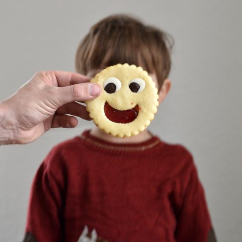 Cookie of the day Food Dough Baked goods Cake Candy Chocolate Jam Nutrition To have a coffee Human being Child Toddler Boy (child) Infancy Face 1 1 - 3 years