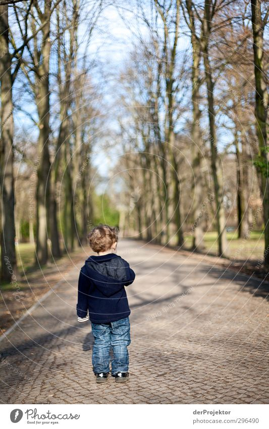 Human being Child Plant Tree Joy Environment Emotions Spring Berlin Boy (child) Park Leisure and hobbies Power Infancy Walking Communicate