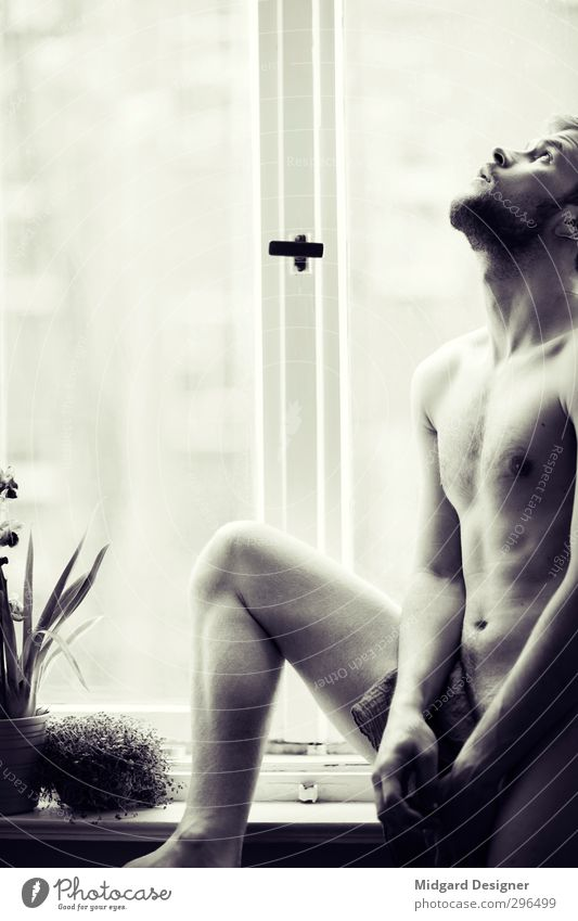 At window I Body Skin Flat (apartment) Bedroom Diet Think Esthetic Athletic Hot Eroticism Emotions Belief Concern Lovesickness Inhibition Naked Sex Sexuality