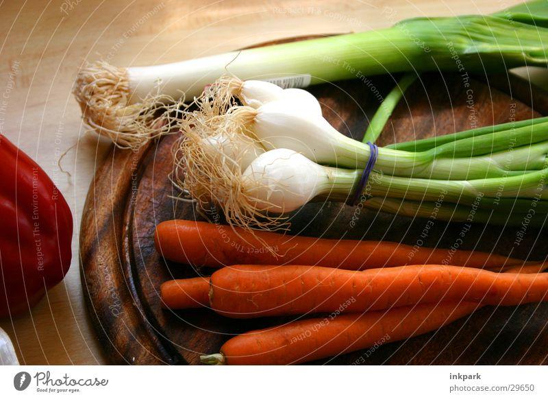 Healthy Vegetable Wooden board Cut Pepper Onion Leek Rapes Early onion